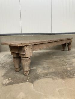 primitive bench in wood