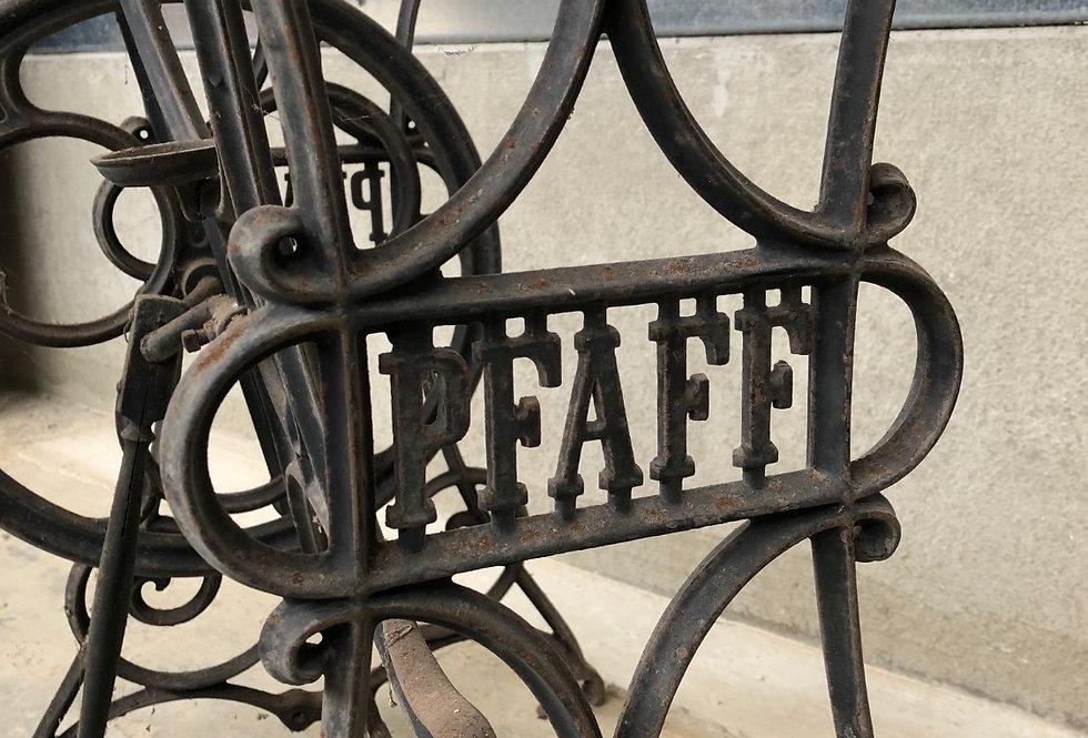 Antique Pfaff Sewing Machine Base in cast iron