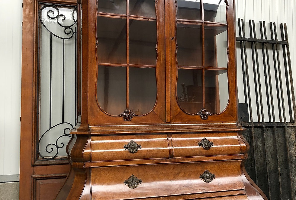 Antique Holland Bombay China Cabinet