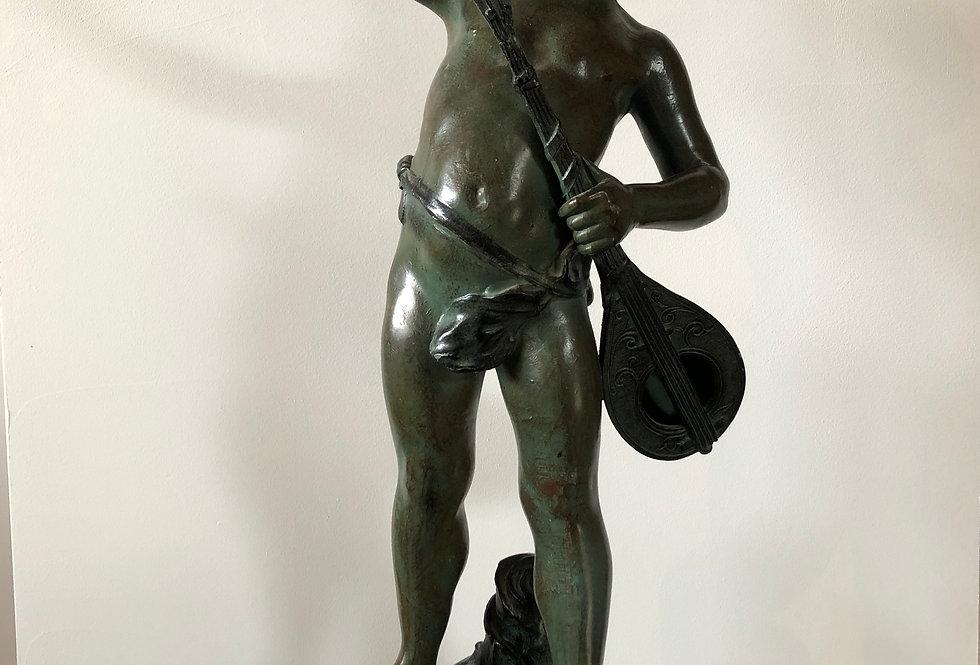 Spelter Statue signed Aug Moreau