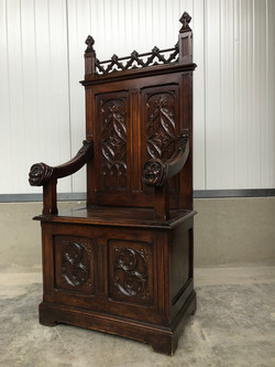 antique gothic throne chair