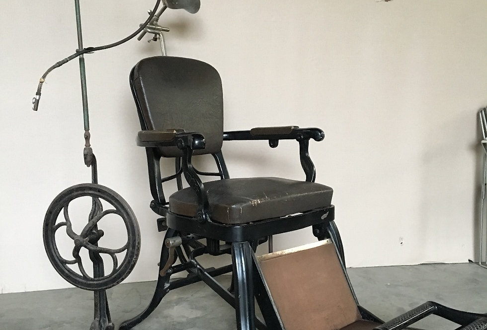 Antique Cast iron Dentist Chair with drill