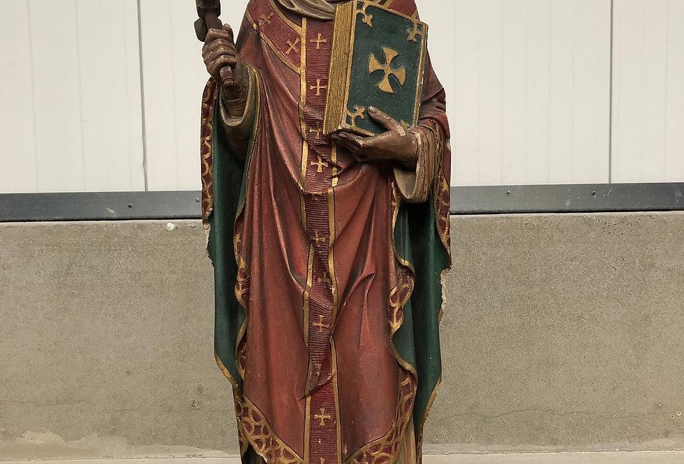 Exceptional Sculpture in Stone of Saint Eloy / Sint Elooi