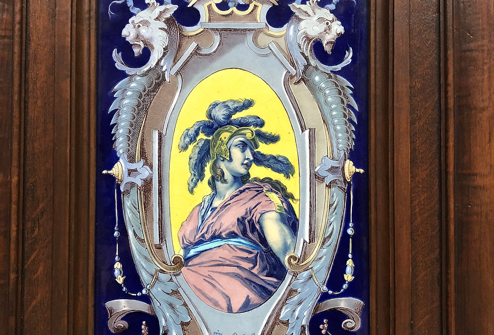 Pair of door panels with Faience