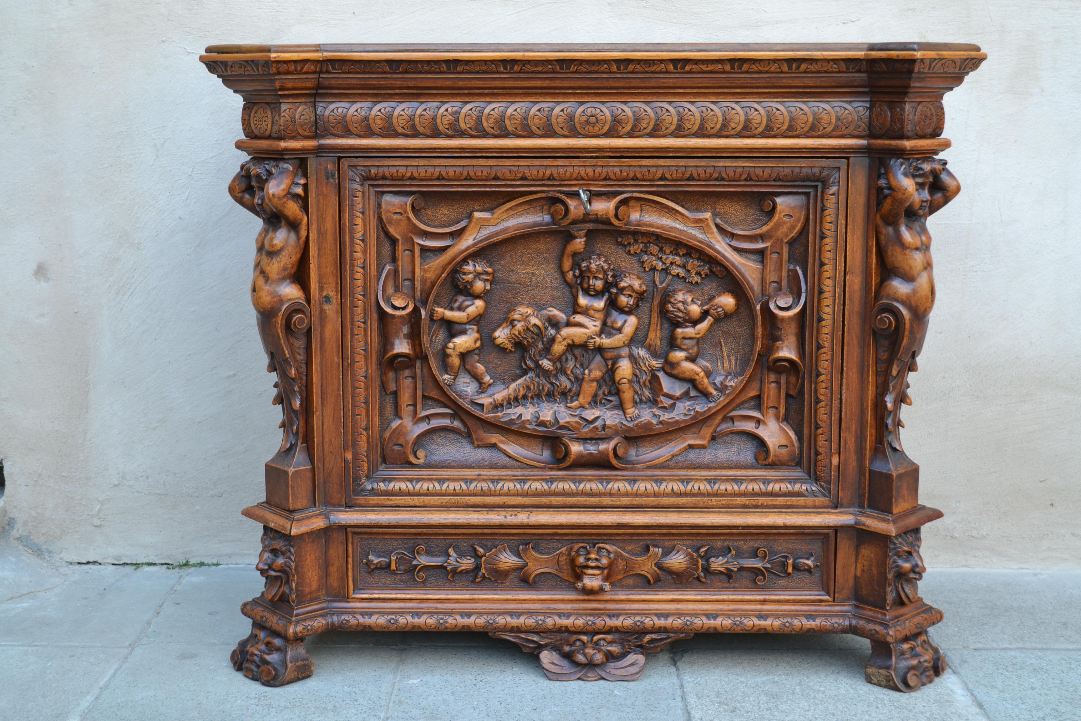 Italian Renaissance Bar Cabinet