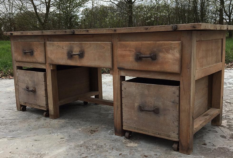 Vintage Industrial Work Bench / Bakery Cabinet