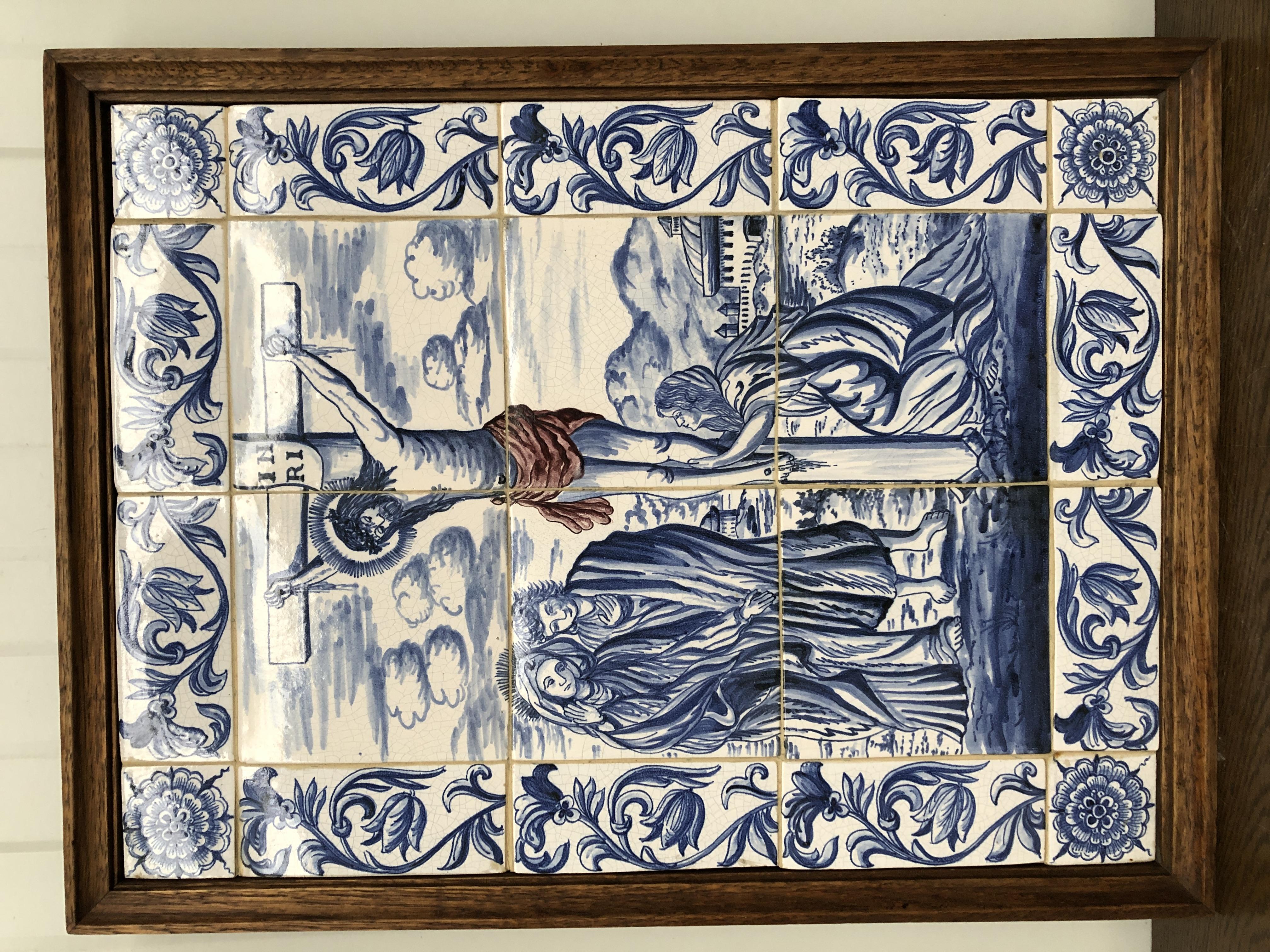 Religious Tiles in frame
