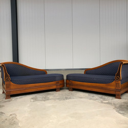 Pair of Louis philippe chaise longues