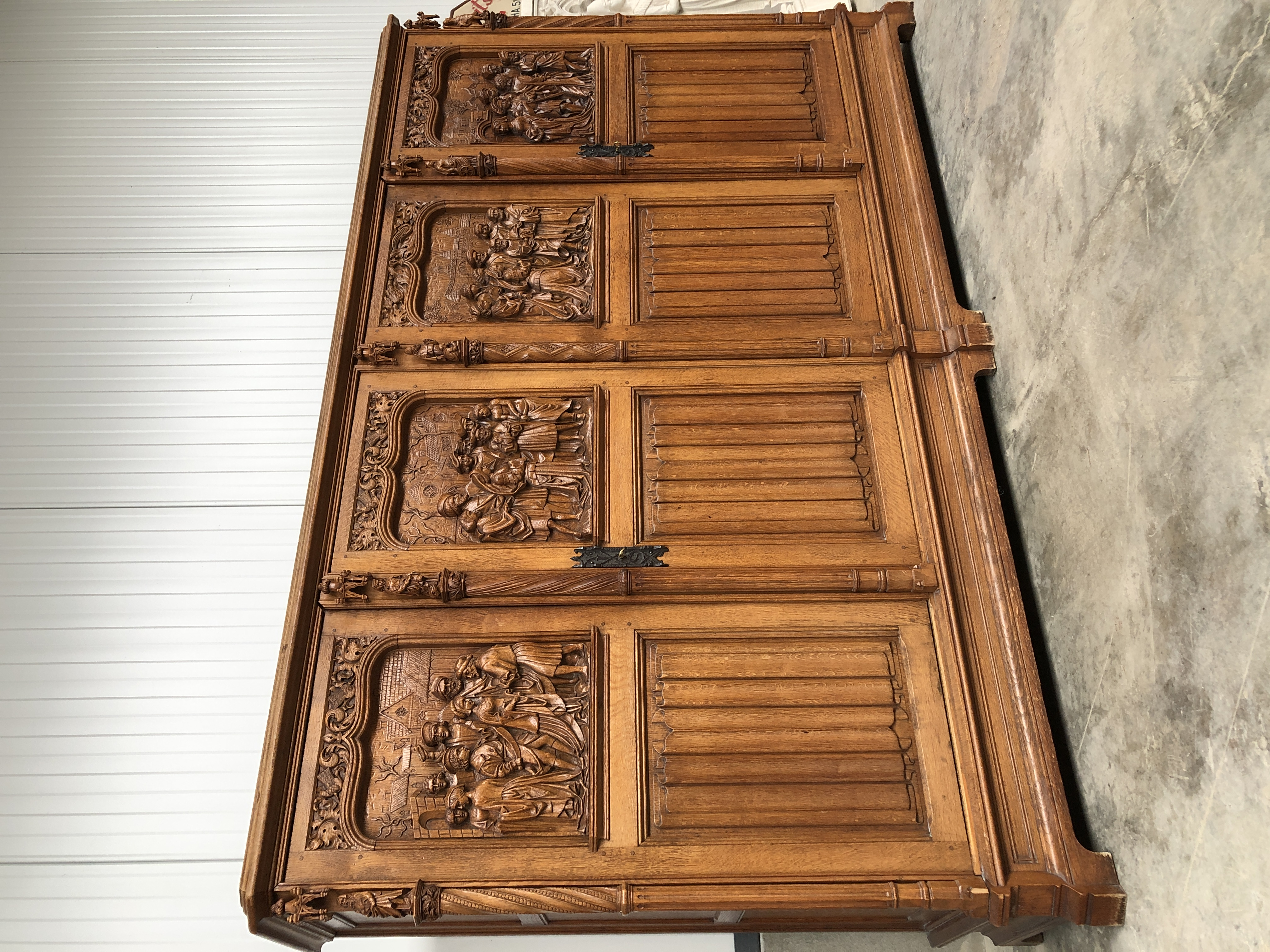 Exceptional Gothic Retable Cabinet