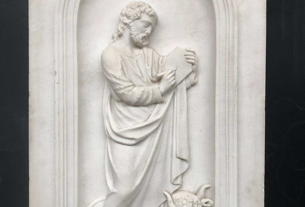 19th C. Saint Luke the evangelist in Marble