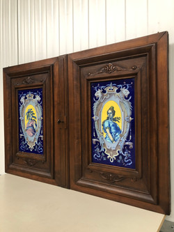 Pair of Doors with Faience