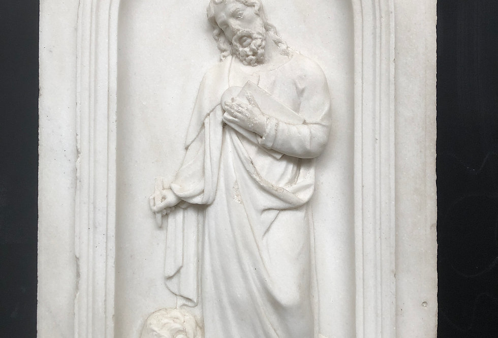 19th C. Saint Mark the evangelist in Marble