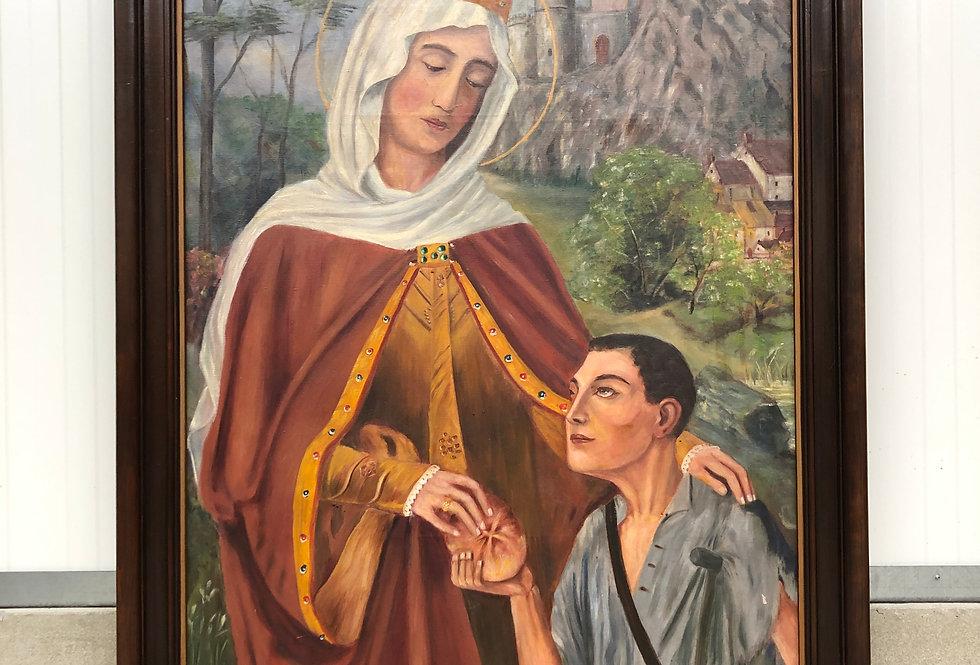 X large Elisabeth van Thuringen painting