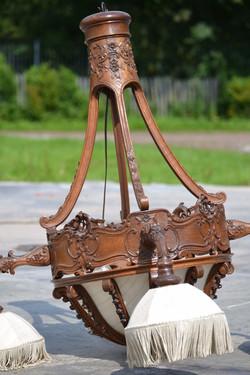 Liège Louis xv chandelier in wood