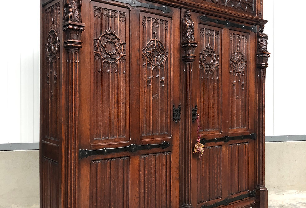 Beautiful Gothic Cabinet/Bookcase/Armoire