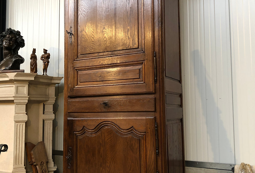 Tall French Louis XV Cabinet in oak
