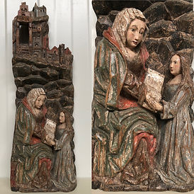 Haute epoque_Medieval Retable Fragment i