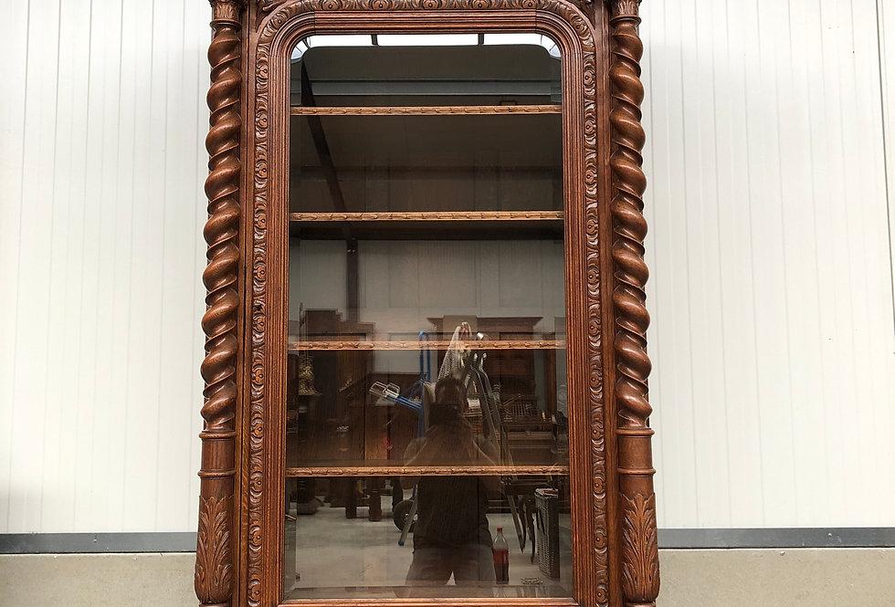 Hunting Vitrine / Display Cabinet in oak