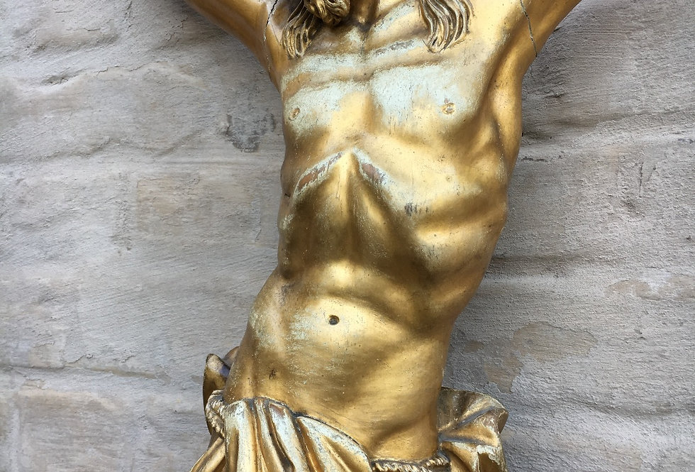 Stunning Gilded Corpus in wood 74 cm high