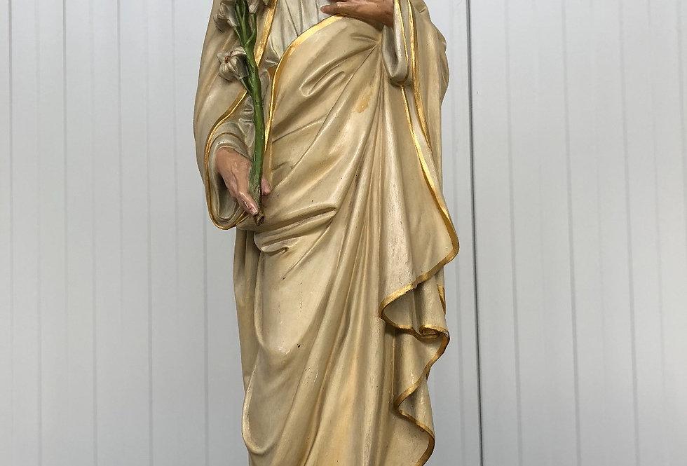 Antique Terracotta Statue of Saint Joseph