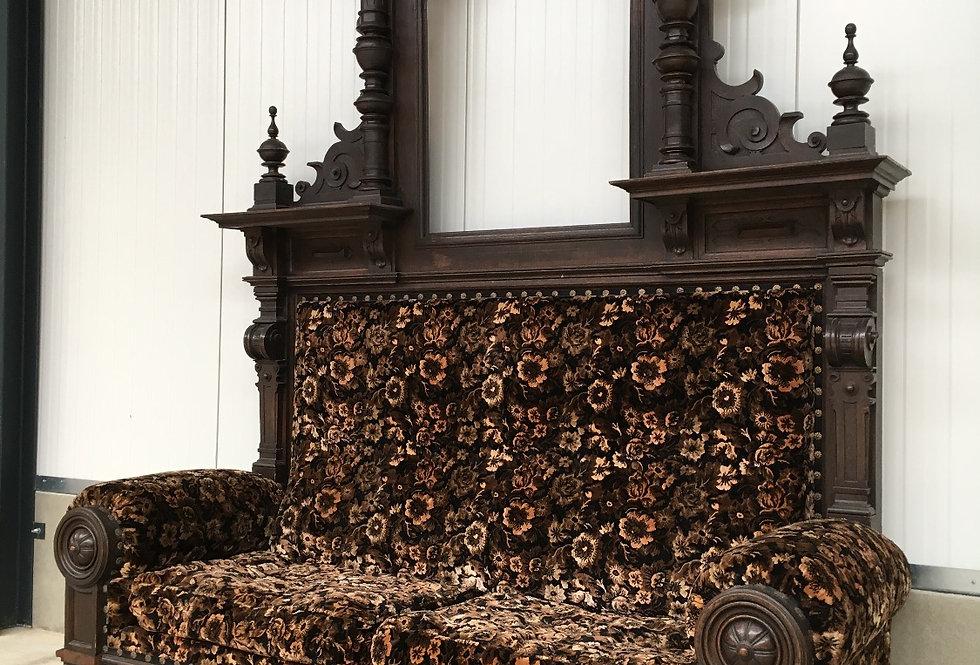 Monumental Renaissance Castle Hall Bench
