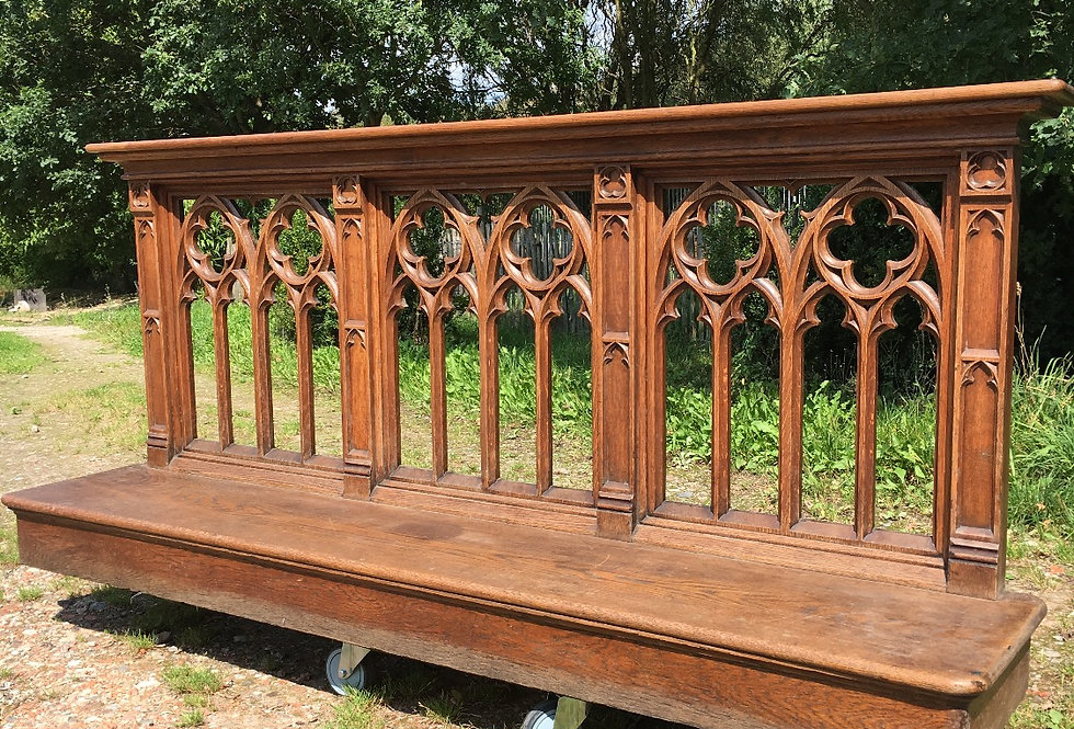 Neo Gothic Railing / Prayer Bench circa 1880