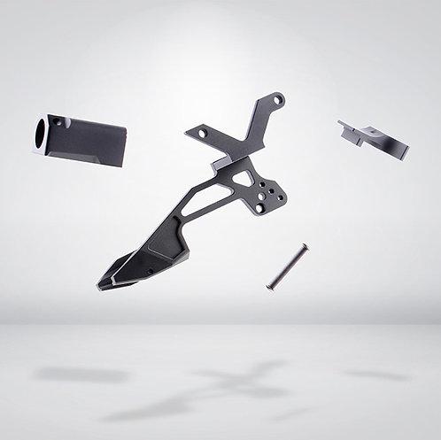 BELL G17 IPSC 側瞄鏡架(套裝組含 槍口抑制器 拉柄型照門) 金屬材質