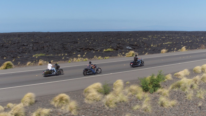 Lava Fields and Harley Davidsons