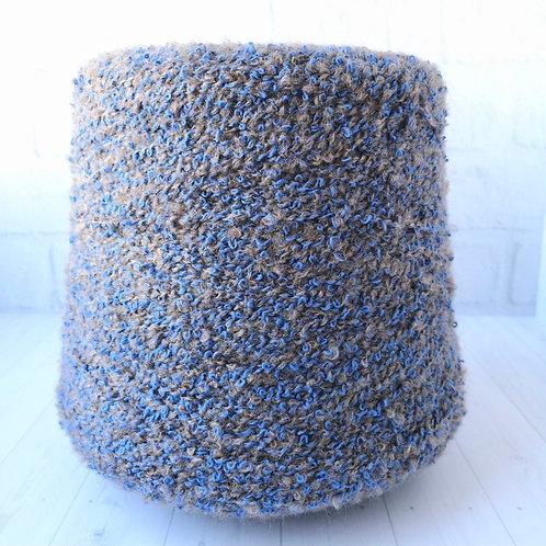 Mix boucle (2.4 руб/грамм) сине коричневая