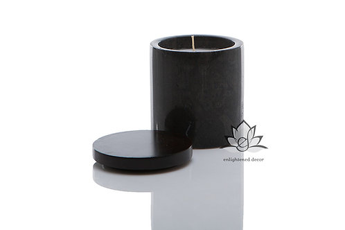 Grey Marble Candle, Medium