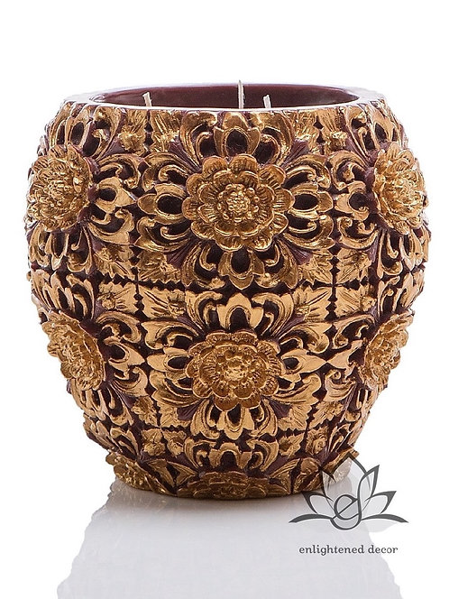 Dendritic Large Vase Candle
