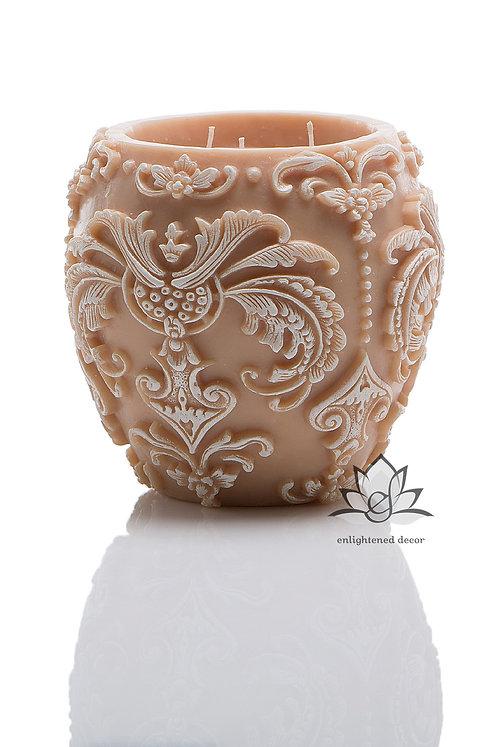 Trance Large Vase Candle Ivory/Gold
