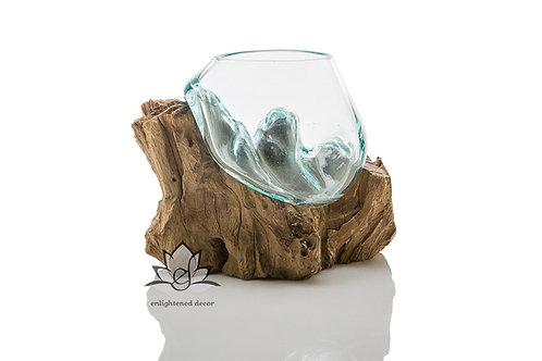 Tear Drop, Glass on Root - Large