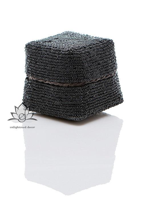 Beaded Boxes, 7cm- Black