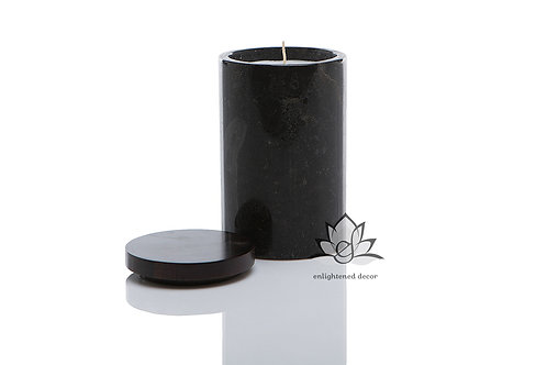 Grey Marble Candle, Large