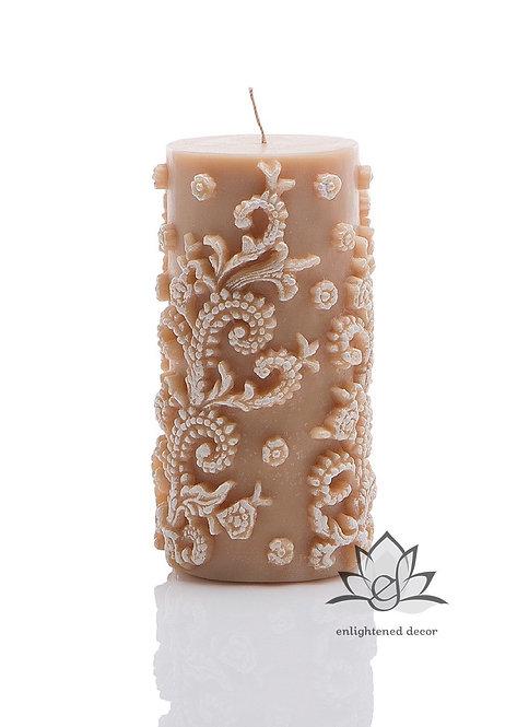 Profound White Medium Pillar Candle