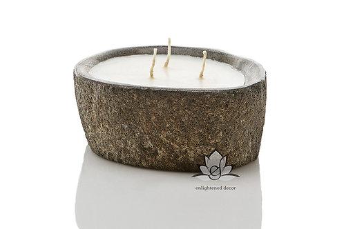 Lava Stone Bowl Candle