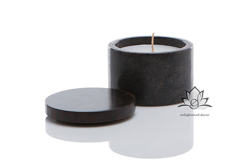 Grey Marble Candle, Small