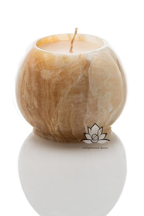 Onyx Round Vase Candle, Large