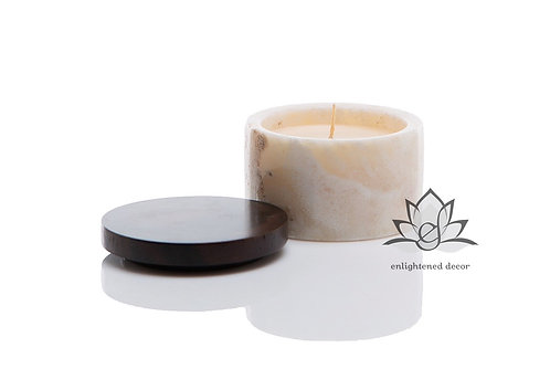 Ivory Onyx Candle, Small