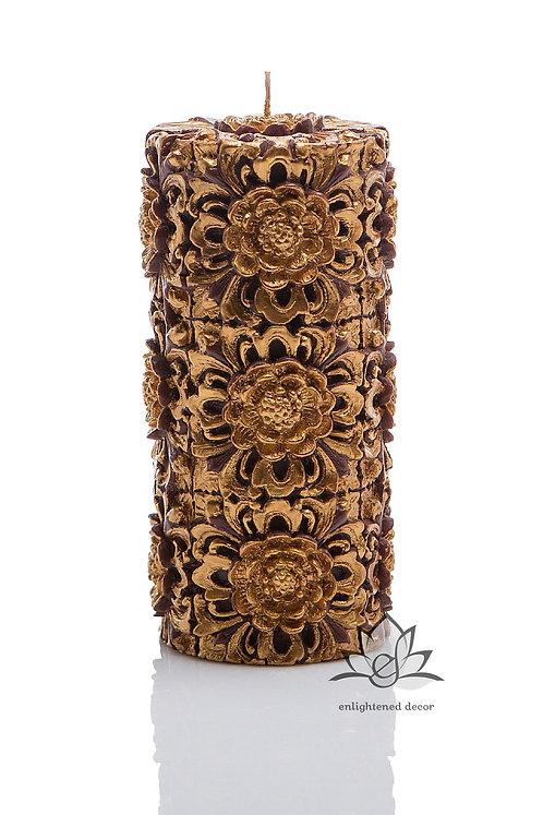 Dendritic Large Pillar Candle
