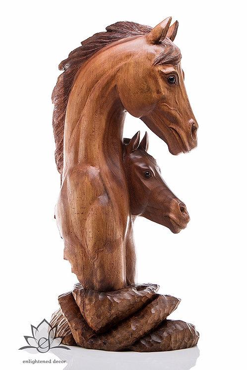 Double Head Horse Bust