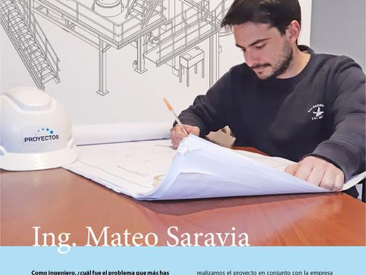 Mateo Saravia Ingeniero de Proyectos Ingeniería.