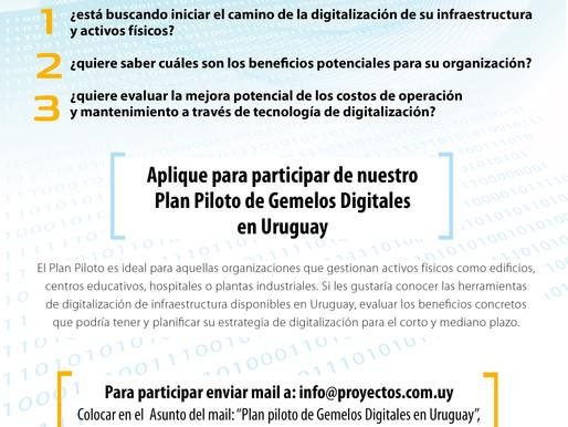 Aplique para participar de nuestro Plan Piloto de Gemelos Digitales en Uruguay