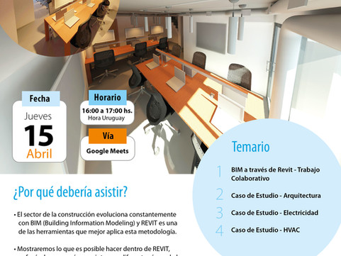 Webinar: Diseño de Ingenierías en REVIT