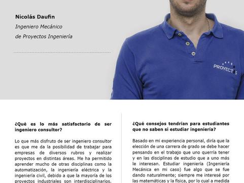 Entrevista a Nicolás Daufin Ingeniero de Proyectos Ingeniería.