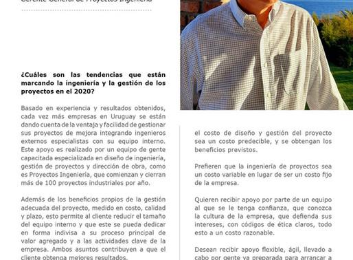 Entrevista a Marcos Arocena, Gerente General de Proyectos Ingeniería.