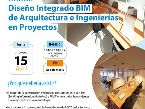 Webinar: Diseño Integrado BIM de Arquitectura e Ingenierías en Proyectos