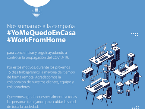 Nos sumamos a la campaña #YoMeQuedoEnCasa #WorkFromHome