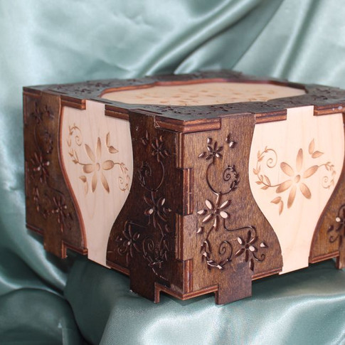 Daisy Cut Out Wooden Box Side View.jpg